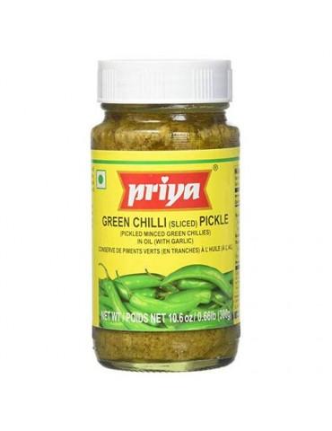 Priya - Green Chili Pickle - 300g