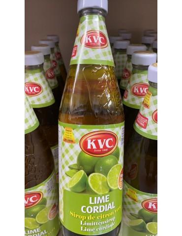 KVC - Lime  Cordial - 750ml