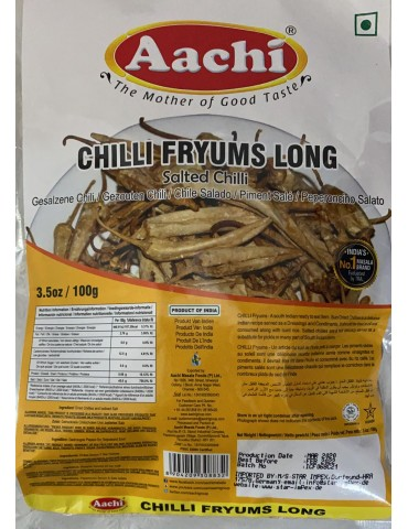 Aachi - Chilli Fryums Long...